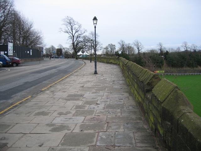 Nuns Road and the city walls