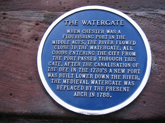 Blue Plaque on the Watergate