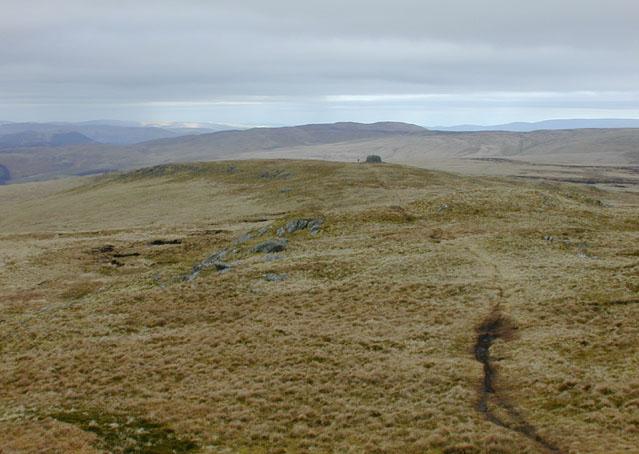Summit ridge of Drygarn Fawr
