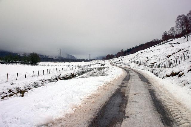 Unclassified road near Tomich