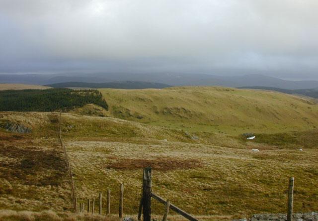 View southeast from Moel y Llyn
