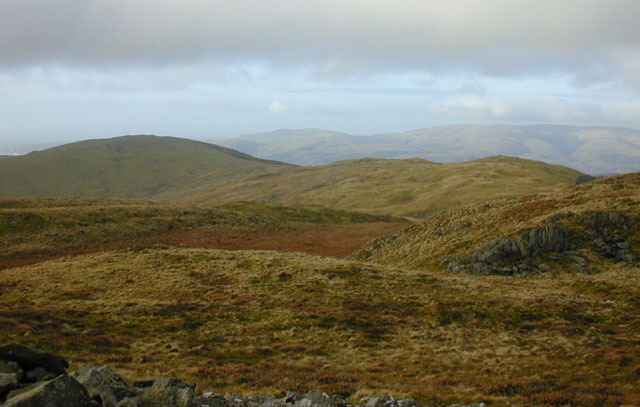View northwest from Moel y Llyn