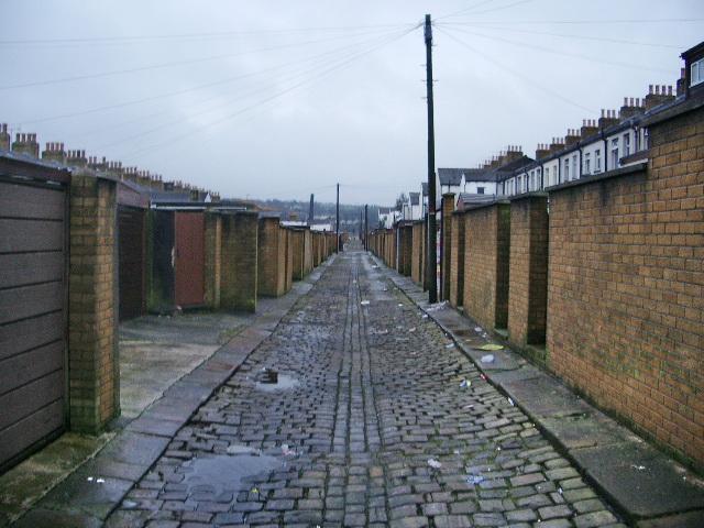 Back street near Higher Antley Street, Accrington