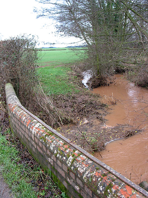 Swollen stream near Brook Farm
