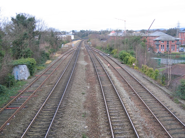 North Wales rail line from the city walls