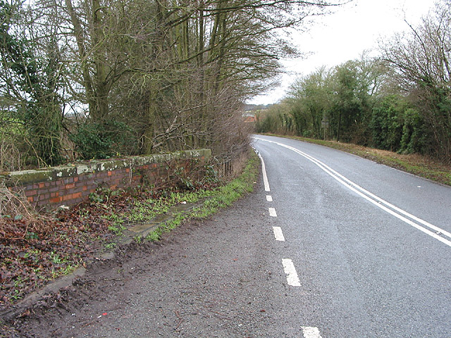 A449,  Ledbury to Ross-on-Wye, approaching Lyne Down