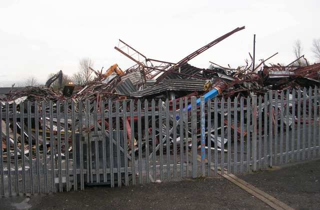Yet more demolition at old Ralph Thoresby High School - Holt Park