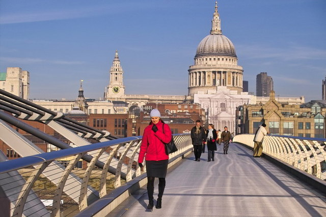 St Paul's Cathedral from the Millennium Bridge