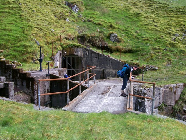 Drainage system for Cruachan Reservoir nr Lairig Noe