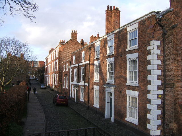 Abbey Street, behind Chester Cathedral