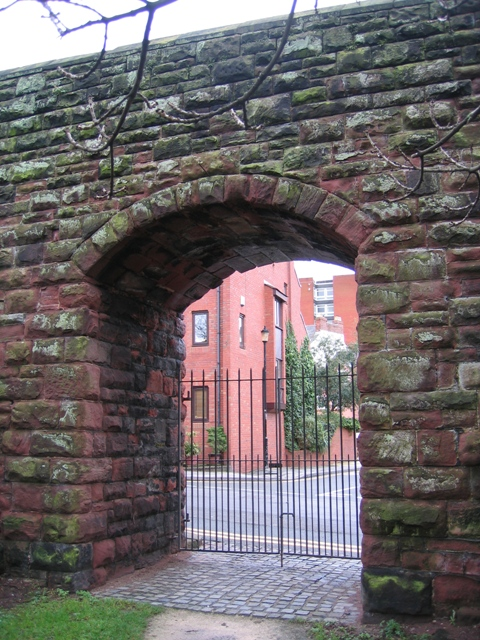Gateway through the city walls