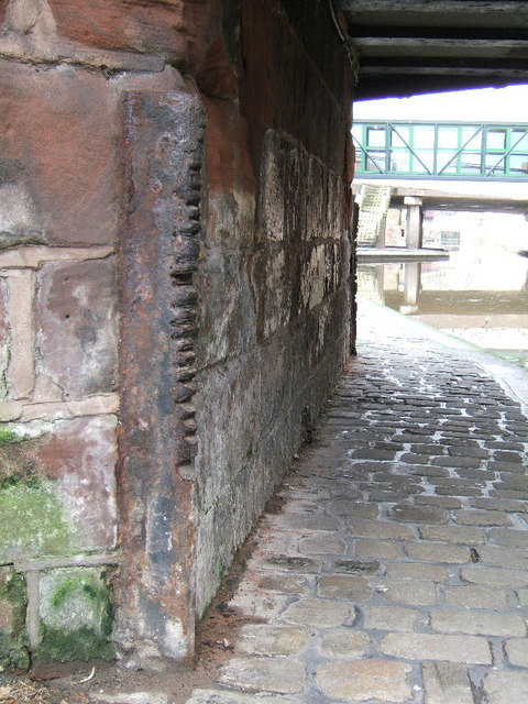 Groove marks on the canal towpath
