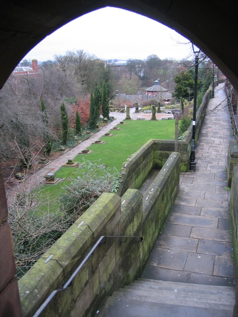 The Roman Gardens from the Newgate