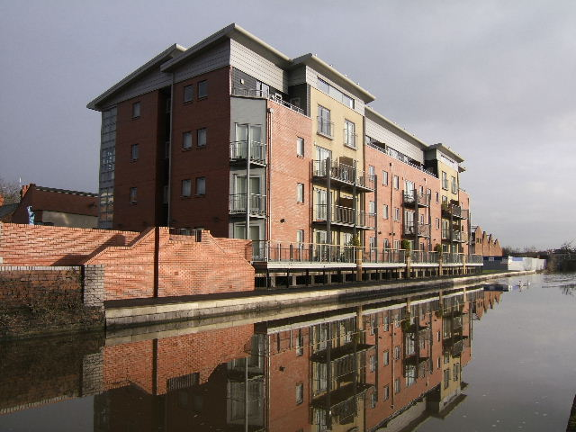 New canal side apartments