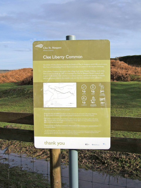 Clee Liberty Common signboard