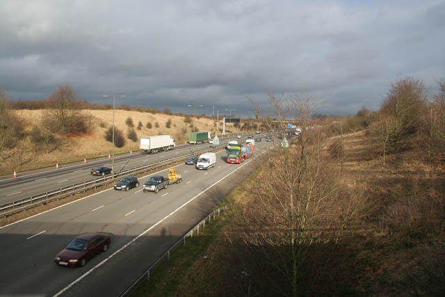 M1 motorway near Strelley