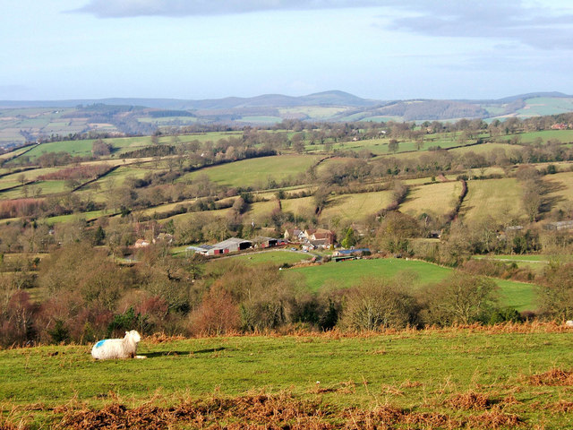 Shropshire countryside seen from Clee Liberty Common