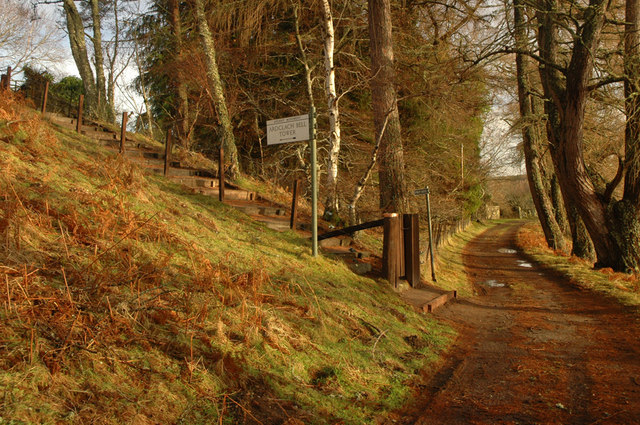Track to Ardclach and path up to the belltower