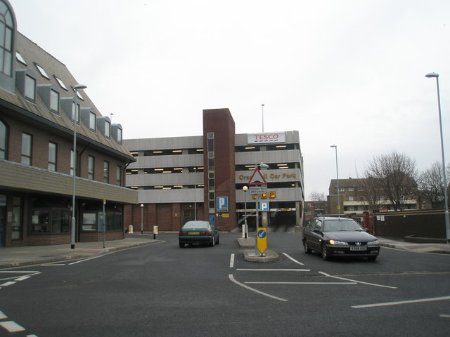 Multi-storey car park near Commercial road