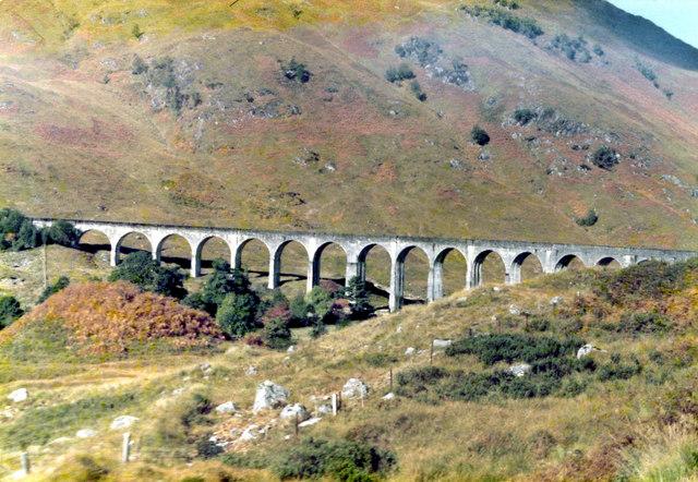 Approaching the Glenfinnan Viaduct by Rail
