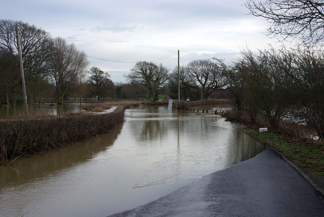 Road closed - floods