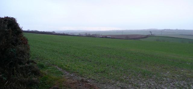 Farm land south of East Barton