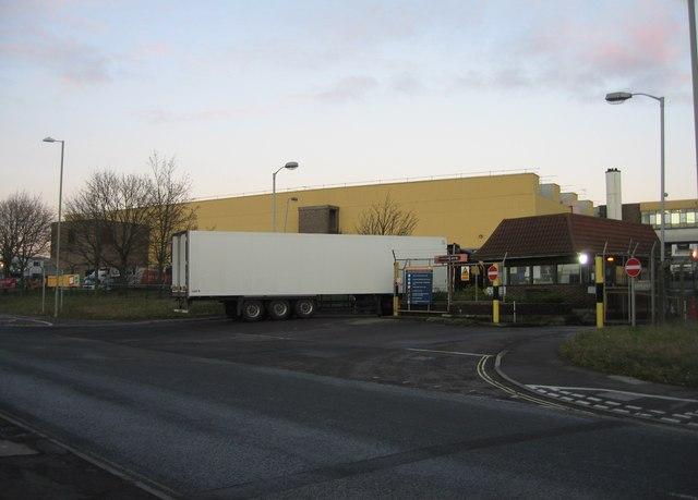 Main HGV entrance to Sainsburys Depot
