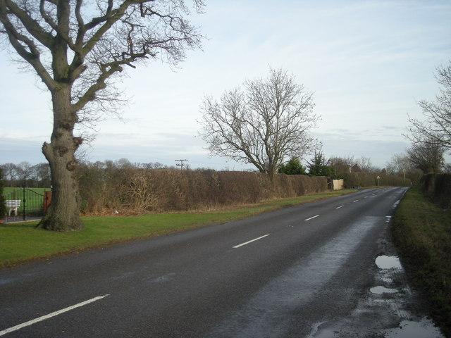 North east on the B4386