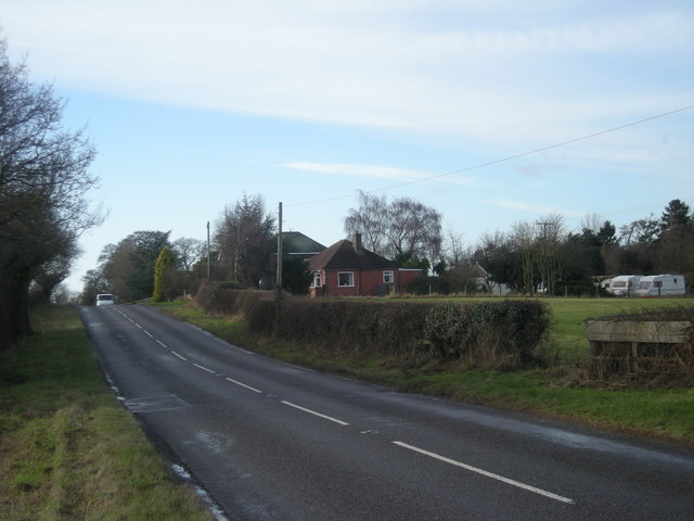 South west on the B4386