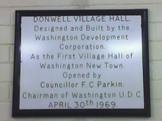 Dedication Plaque at Donwell Community Centre
