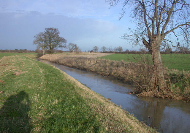 Beck Brook flowing towards Rampton Drift