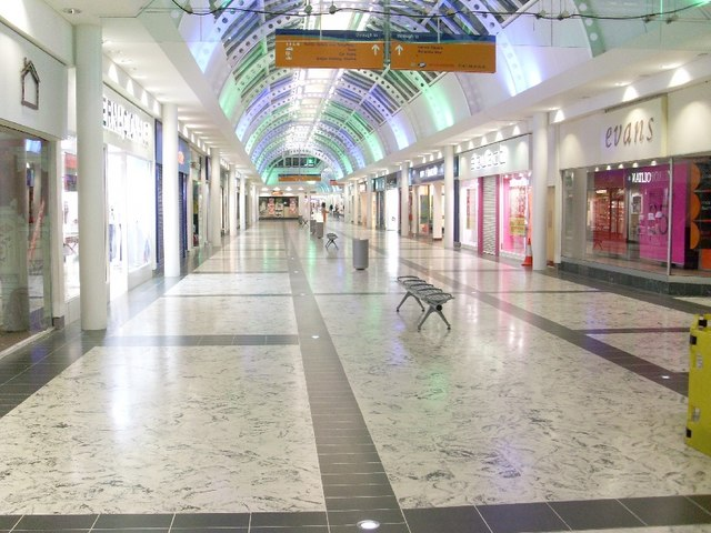 Interior of Clydebank Shopping Centre