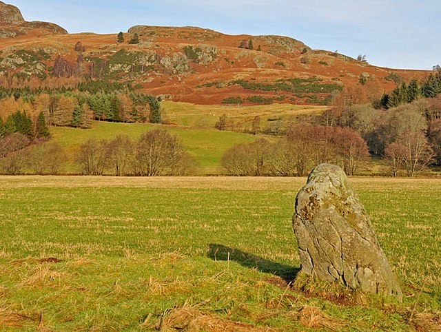 Remains of Stone Circle west of Comrie, looking North to Sgorr Racaineach