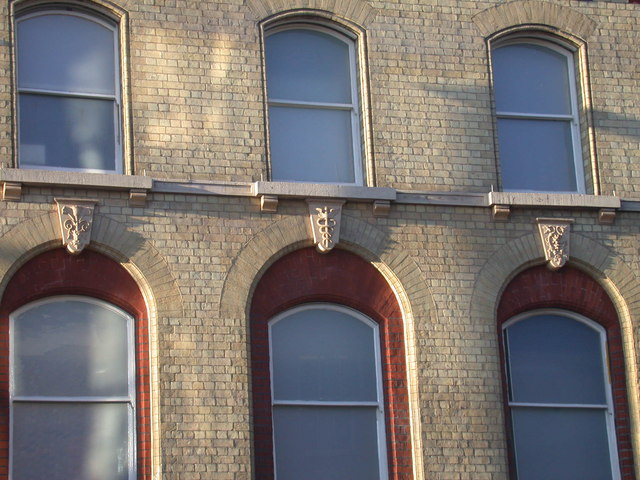 Decorative keystones, St Andrew's Street