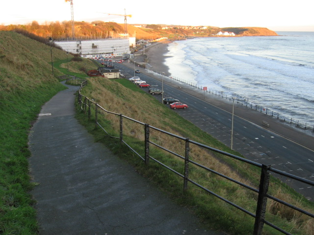 Cliffside path to Royal Albert Drive Scarborough