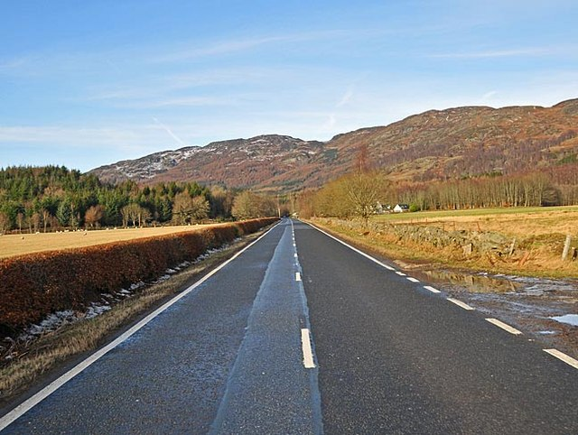A85 West of Comrie