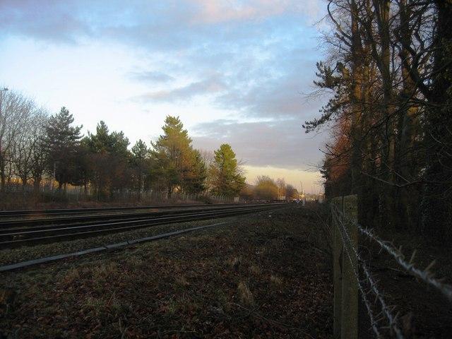 Looking towards Basingstoke station