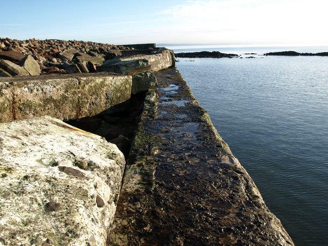 Battered Sea Defences