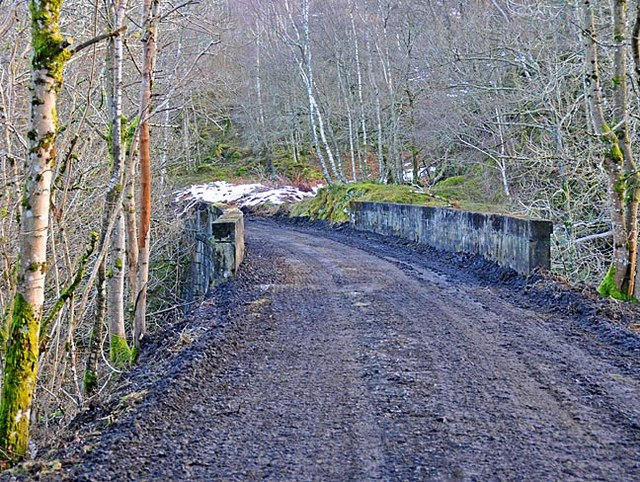 Concrete viaduct on dismantled  Comrie to St Fillans railway