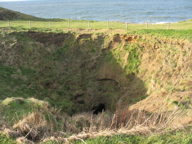 Collapsed cave at Porthdinllaen