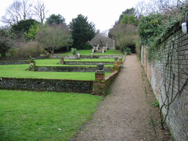 Gardens attached to the church in Betteshanger
