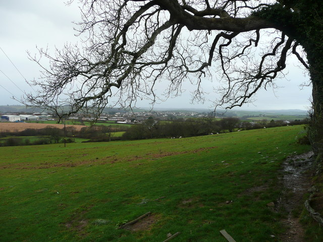 Great Torrington in the distance