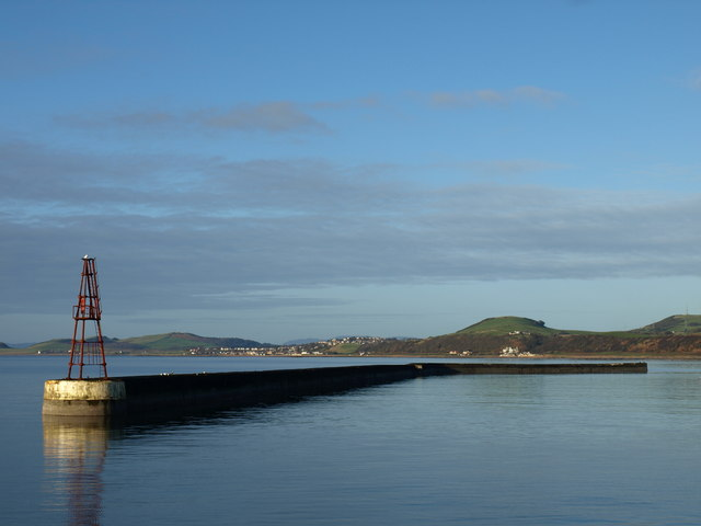 Ardrossan Harbour entrance, defence wall.