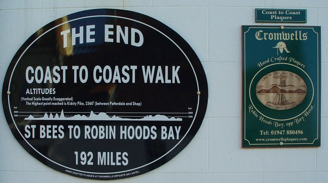The end of the Coast to Coast Walk