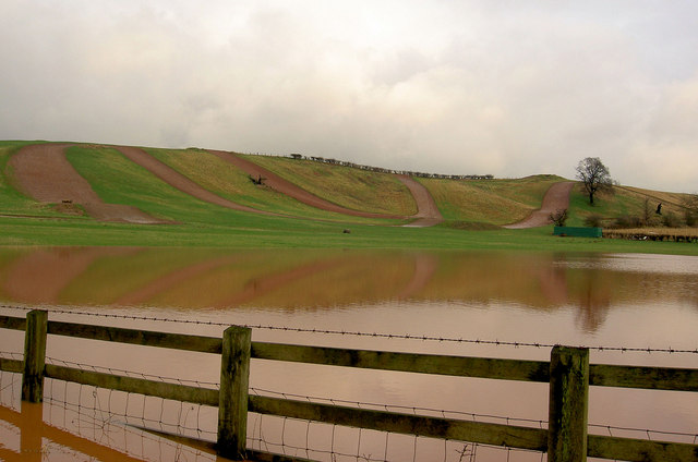 Flooded fields and motocross track