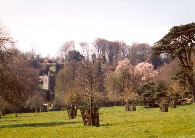 View from the drive, Lanhydrock House