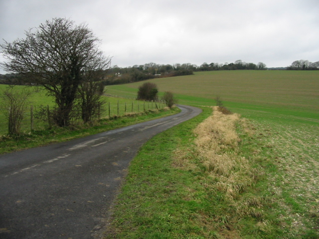View along road to West Langdon
