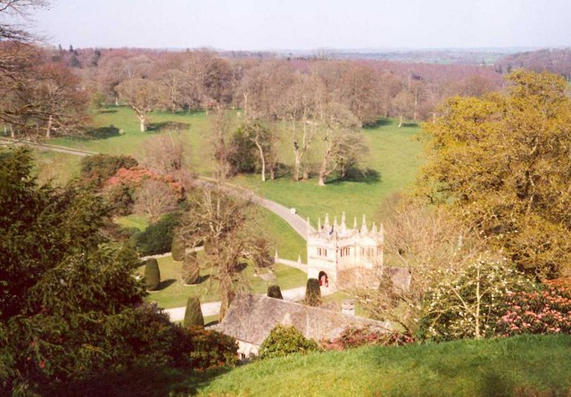 View of the park, Lanhydrock House