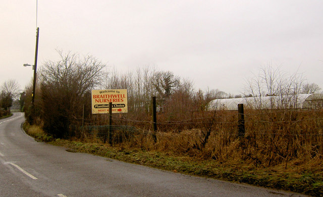 Entrance to Braithwell nurseries