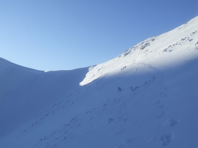 Embryonic cornice at the head of Corrie Kilbo